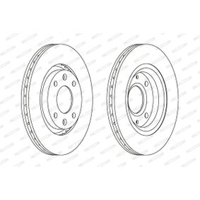 Bremsscheibe FERODO Art.No - DDF1140C OEM: 1618890480 für OPEL, PEUGEOT, CITROЁN, DS, VAUXHALL kaufen