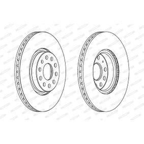 FERODO Disc frana 5Q0615301F pentru VW, AUDI, SKODA, SEAT cumpără