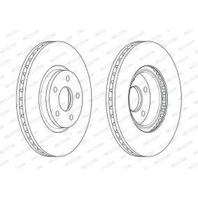 FERODO Bremsscheibe 7G911125EA für FORD, NISSAN, FORD USA bestellen