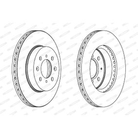 Спирачен диск FERODO Art.No - DDF492C OEM: SDB000990 за HONDA, SKODA, LAND ROVER, ROVER, MG купете