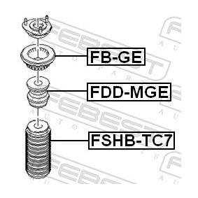 Almohadilla de tope suspensión & guardapolvos amortiguador FDD-MGE FEBEST