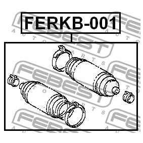Steering rack boot FERKB-001 FEBEST