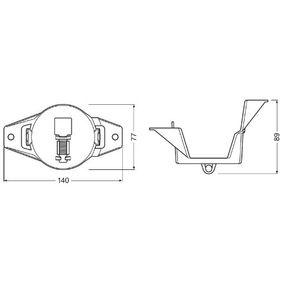 Nebelscheinwerfer Einzelteile FOG103/201-NIS-M OSRAM