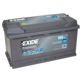 EXIDE EA1000 Starterbatterie OEM - 4E0915105 AUDI, HONDA, SEAT, SKODA, VW, VAG günstig
