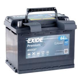 4515410102 für VW, MERCEDES-BENZ, SKODA, SMART, CHEVROLET, Starterbatterie EXIDE (EA640) Online-Shop