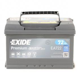 71751136 für FIAT, ALFA ROMEO, LANCIA, Starterbatterie EXIDE (EA722) Online-Shop