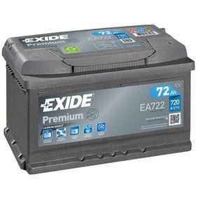 EXIDE Starterbatterie EA722