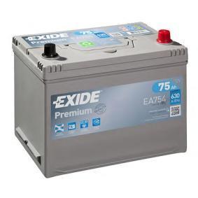 Starterbatterie EXIDE Art.No - EA754 OEM: 1060816 für FORD kaufen