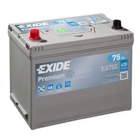 Starterbatterie EXIDE Art.No - EA755 OEM: EC0730008 für VW, OPEL, SKODA, TOYOTA, NISSAN kaufen