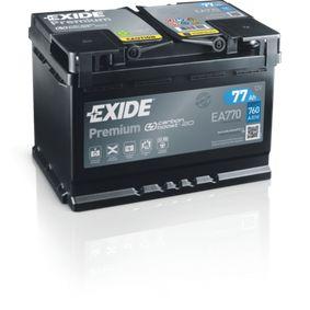 Batterie EXIDE (EA770) für VW TOURAN Preise