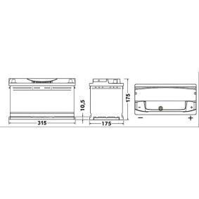 EXIDE Starterbatterie (EA852) niedriger Preis