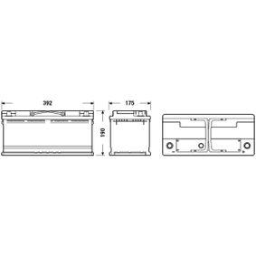71770280 für FIAT, ALFA ROMEO, LANCIA, Starterbatterie EXIDE (EB1100) Online-Shop