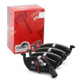 Bremsbelagsatz, Scheibenbremse TRW Art.No - GDB2108 OEM: 8Z0698151A für VW, AUDI, SKODA, SEAT kaufen