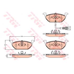 TRW Bremsbelagsatz, Scheibenbremse 8Z0698151A für VW, AUDI, SKODA, SEAT bestellen