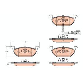 TRW Bremsbelagsatz, Scheibenbremse (GDB2108) niedriger Preis