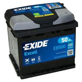 Batterie EXIDE (EB500) für VW TOURAN Preise