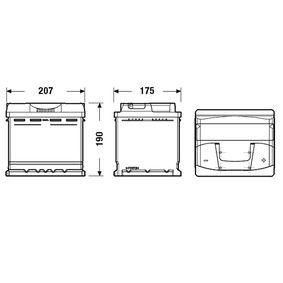 Batterie (EB500) hertseller EXIDE für VW TOURAN (1T1, 1T2) ab Baujahr 02.2006, 140 PS Online-Shop