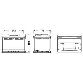Batterie (EB620) hertseller EXIDE für VW TOURAN (1T1, 1T2) ab Baujahr 02.2006, 109 PS Online-Shop