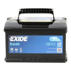 71751136 für FIAT, ALFA ROMEO, LANCIA, Starterbatterie EXIDE (EB712) Online-Shop