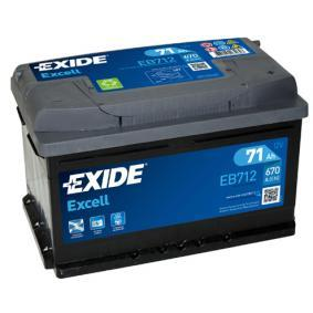 EXIDE Starterbatterie EB712