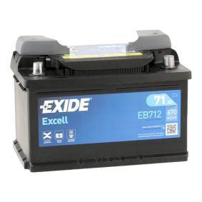 EXIDE Starterbatterie (EB712) niedriger Preis