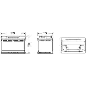 Batterie (EB740) hertseller EXIDE für VW TOURAN (1T1, 1T2) ab Baujahr 11.2004, 90 PS Online-Shop