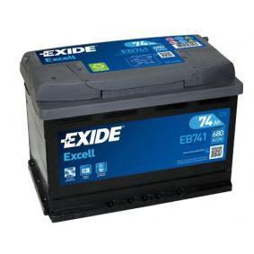 Starterbatterie EXIDE Art.No - EB741 OEM: 28800YZZBB für OPEL, TOYOTA, LEXUS, ROVER, WIESMANN kaufen