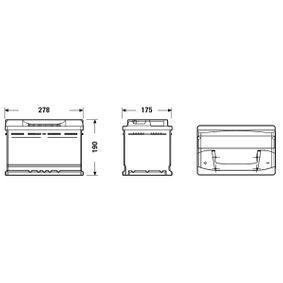 28800YZZBB für OPEL, TOYOTA, LEXUS, ROVER, WIESMANN, Starterbatterie EXIDE (EB741) Online-Shop