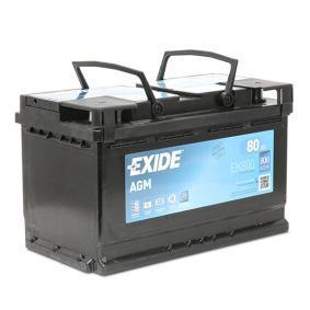 Starterbatterie EXIDE Art.No - EK800 OEM: 244100001R für VW, MERCEDES-BENZ, OPEL, BMW, AUDI kaufen