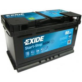 EXIDE Starterbatterie 244100001R für VW, MERCEDES-BENZ, OPEL, BMW, AUDI bestellen