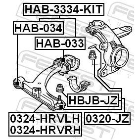 Ремонтен комплект, шарнир на носач / кормилна щанга HBJB-JZ FEBEST