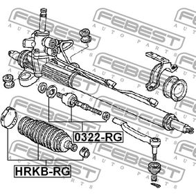 Steering rack boot HRKB-RG FEBEST
