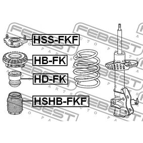 Almohadilla de tope suspensión & guardapolvos amortiguador HSHB-FKF FEBEST