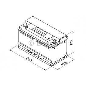 BOSCH 0 092 S30 120 Starterbatterie OEM - 93197903 OPEL, VAUXHALL, CHEVROLET, GENERAL MOTORS günstig