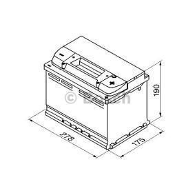 Batería Art. No: 0 092 S50 080 fabricante BOSCH para AUDI A4 a buen precio