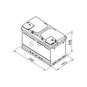 BOSCH RENAULT ESPACE Batterie (0 092 S50 100)