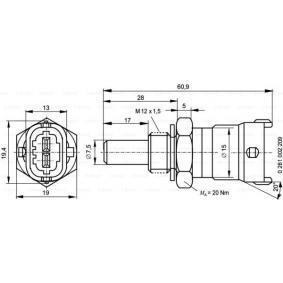Hőmérséklet érzékelő (0 281 002 209) gyártó BOSCH mert HONDA CIVIC 2.2 CTDi (FK3) 140 LE gyártási év 09.2005, 140 PS nyereségesen