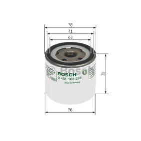 BOSCH Ölfilter (0 451 103 298) niedriger Preis
