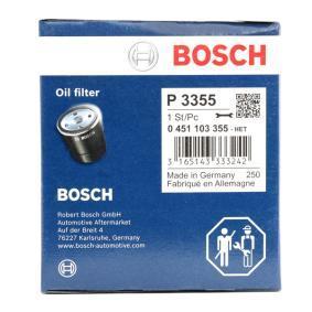 Filtro recirculación de gases BOSCH 0 451 103 355 populares para PEUGEOT 407 2.0 136 CV
