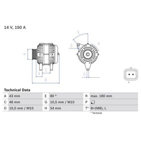 BOSCH Generator 96463218 für PEUGEOT, CITROЁN, SUZUKI, TVR bestellen