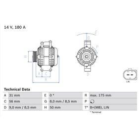 Generator BOSCH Art.No - 0 986 048 450 OEM: A0131549002 für MERCEDES-BENZ kaufen