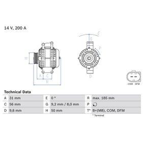 Generator BOSCH Art.No - 0 986 048 550 OEM: 0141540702 für MERCEDES-BENZ kaufen