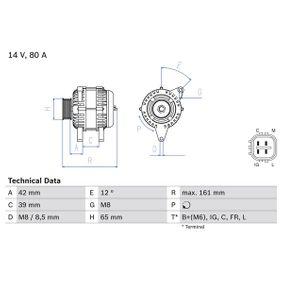 BOSCH Алтернатор генератор 0 986 080 570