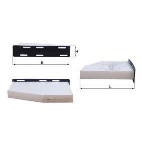 MAHLE ORIGINAL Филтър въздух за вътрешно пространство (LA 181/1)