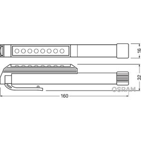 OSRAM LEDIL203 Håndlampe