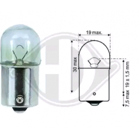 Крушка с нагреваема жичка, стоп светлини (LID10061) от DIEDERICHS купете