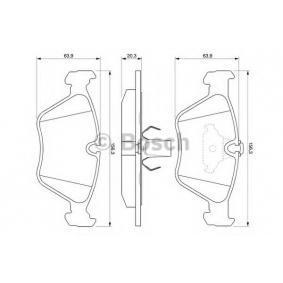 BOSCH Bremsbelagsatz, Scheibenbremse 34111164331 für BMW bestellen