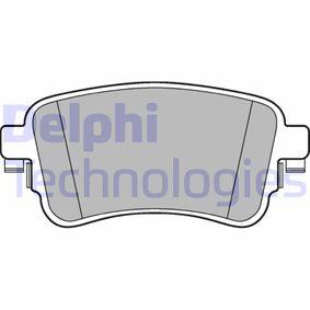 DELPHI Brake Pad Set, disc brake (LP3261) at low price