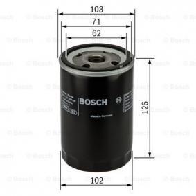BOSCH Filtro de aceite motor (0 986 452 042)