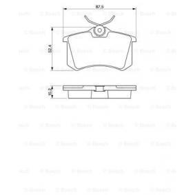 BOSCH Bremsbelagsatz, Scheibenbremse 6025371650 für VW, AUDI, FORD, RENAULT, SKODA bestellen